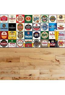 Adesivo Azulejos Rótulos De Cervejas Famosas (20X20Cm)