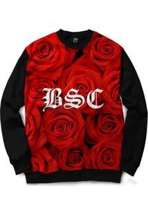 Blusa Bsc Rose Bsc Full Print - Masculino-Preto