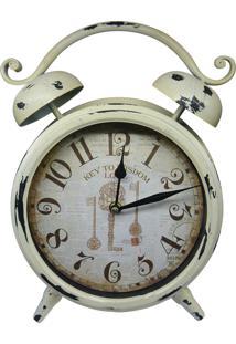 Relógio Kasa Ideia De Mesa Branco