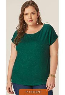 Blusa Verde Em Viscose Botonê