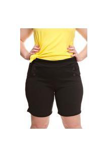Shorts Melinde Plus Size Granitê Preto
