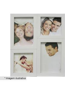 Painel Para 4 Fotos- Branco- 29X24X6Cm- Kaposkapos