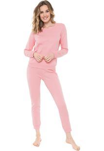 Pijama Malwee Liberta Liso Rosa