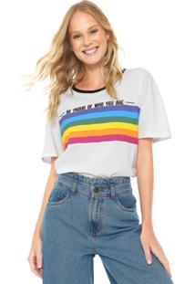 Camiseta My Favorite Thing(S) Arco-Íris Branca