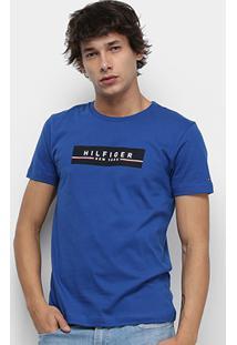 Camiseta Tommy Hilfiger Estampa Box Print Masculino - Masculino