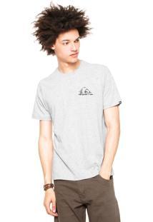 Camiseta Quiksilver Recycled Dot Cinza