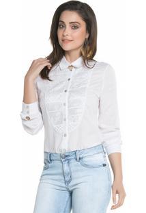 Camisa Sideral Pala Redonda Branca