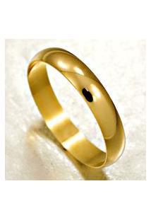 Aliança De Ouro Acabamento Liso - As0005 Dourado