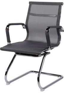 Cadeira Office Eames Tela Fixa Giratória Cinza Or Design