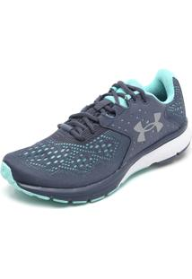 Tênis Under Armour Charged Rebel W Cinza/Verde