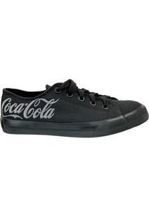 Tênis Coca-Cola Basket Feminino - Feminino-Preto