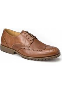 Sapato Social Derby Polo State - Masculino-Marrom