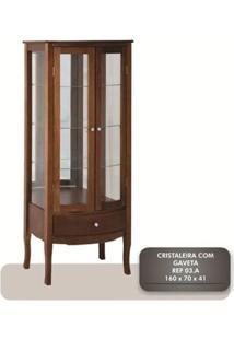 Cristaleira 2 Portas + 3 Prateleiras + Gaveta - Tommy Design