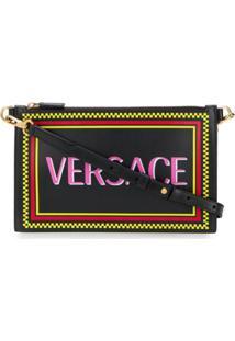 Versace Clutch Com Logo - Preto