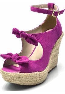 Sandália Plataforma Flor Da Pele Pink