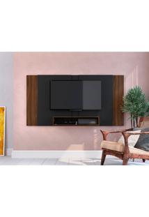 Painel Extensível Para Tv Até 55 Polegadas Chante Preto E Marrom