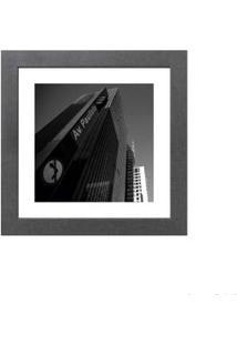 Quadro Decorativo Av. Paulista 23X23Cm Cinza Infinity