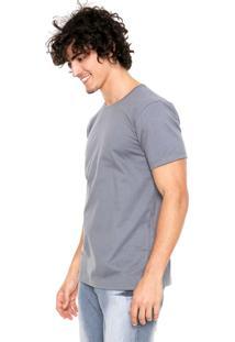 Camiseta Fiveblu Manga Curta Basic Colors Cinza