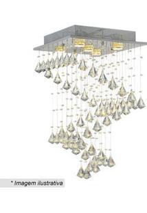 Hevvy Plafon Linha Kalluia Cristal & Prateado 63X37Cm Bivolt