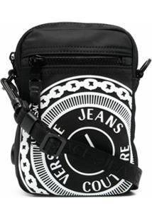 Versace Jeans Couture V-Emblem Pouch Shoulder Bag - Preto