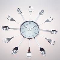eefb4a1719e Relógio De Parede Talheres Cozinha Plástico 15X15 Cm