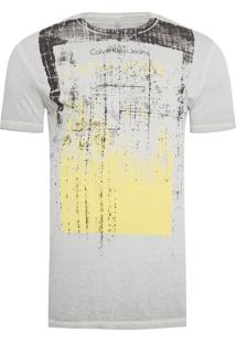 Camiseta Masculina Estampa New York - Cinza