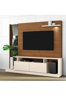 Estante Para Home Theater E Tv Até 65 Polegadas Dubai Off White E Nature