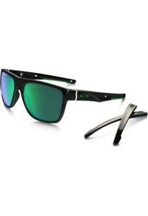 Óculos Oakley Crossange Xl Jade Iridium Polished Black - Masculino