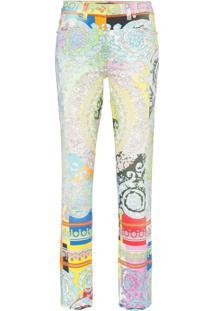 d465da8ed R$ 6059,00. Farfetch Versace Calça Jeans Slim ...