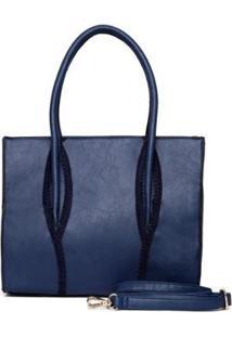 Bolsa Nice Bag Tote Alça Regulável Feminina - Feminino-Marinho