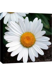 Quadro Impressão Digital Margarida Branco 30X30Cm Uniart