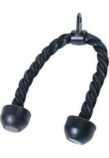 Puxador Triceps Corda Importado Crossover Preto - Liveup - Unissex