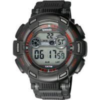 fa665e82df0 Relógio Digital Speedo 81172G0 - Masculino - Preto Vermelho