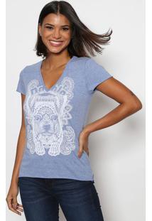 Camiseta De Cachorrinho - Azul Claro & Branca - Trittriton