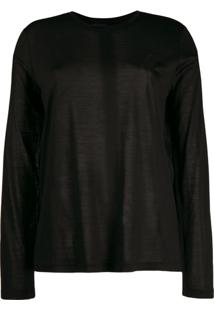 Tom Ford Long Sleeve Knitted Top - Preto