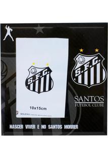 Porta Retrato Minas De Presentes 1 Foto 15X10Cm Vidro - Santos Preto