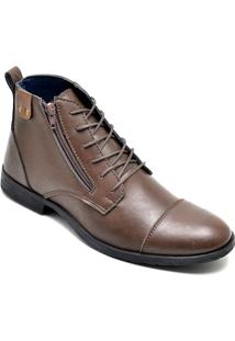 Bota Dress Boot Masculina Eco Canyon Broklin Marrom