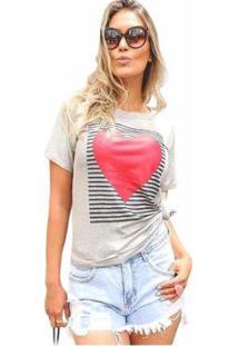 Camiseta D Bell Feminina - Feminino-Cinza
