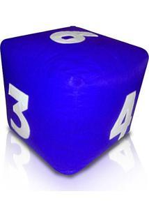 Puff Infantil Dado - Azul Royal Com Números Brancos - Phoenix Puff