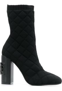 Casadei Ankle Boot Matelassê - Preto