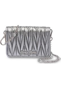 Miu Miu Matelassé Mini Shoulder Bag - Preto