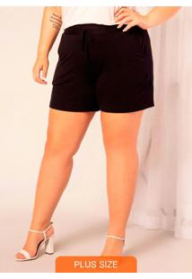 Shorts Feminino Molecotton Preto