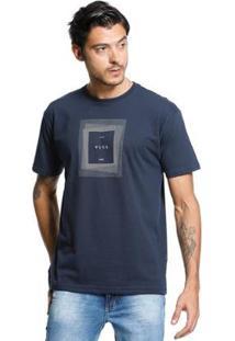 Camiseta Standard Vlcs Logotipia Malha Penteada Masculina - Masculino