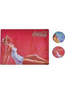 Jogo Americano E Porta Copos Coca-Cola Blond Lady