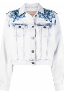Twinset Jaqueta Jeans Com Abotoamento - Azul