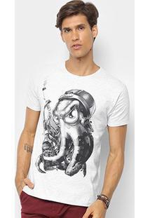 Camiseta Watkins & Krown Caveira Masculina - Masculino-Cinza