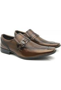 Sapato Social Venetto Classic Elegant - Masculino-Marrom