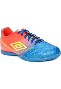 Tênis Futsal Masculino Umbro Verde/Coral/Azul