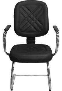Cadeira Pethiflex Pd-05Scbc Couro Preto