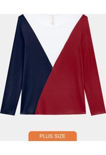 Blusa Malha Viscose C/Elastano Vermelho